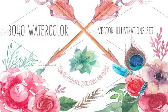 Boho Watercolor Illustrations Creative Market