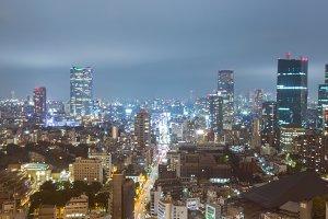 Tokyo City at night.