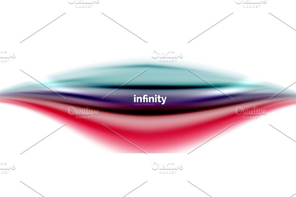 Flowing Fluid Colors Vector Blurred Colorful 3D Gel Shape On White