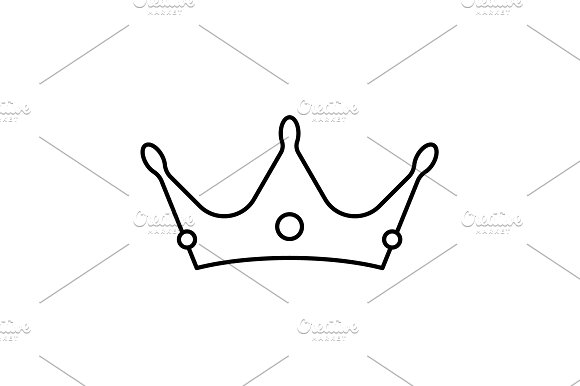 Crown Line Icon Vector Illustration