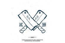 Chefs Vintage Crossed Knives T-shirt