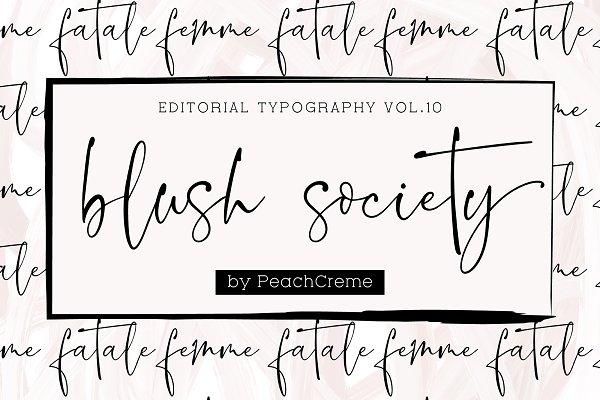 Blush Society // Editorial Vol.10