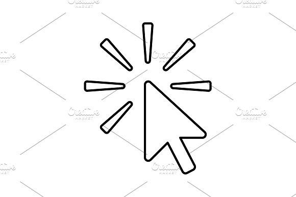Click Line Icon Vector Illustration