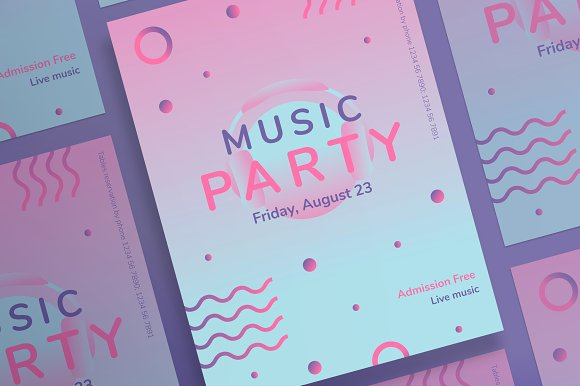 Posters Pink Music Party