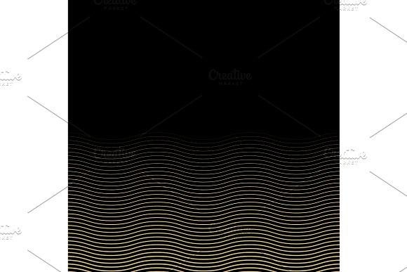Geometric Golden Wavy Vector Pattern