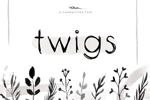 Twigs - A Handwritten Scribble Font