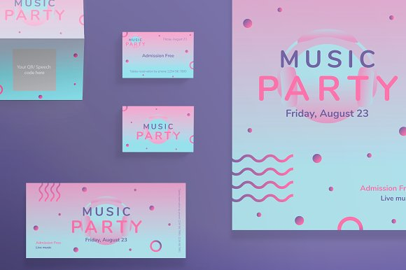 Print Pack Pink Music Party