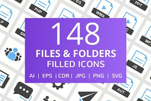 148 Files & Folders Filled Icons