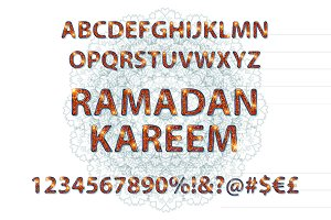Alphabet in Islamic style
