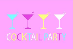 Cocktail party background pastel