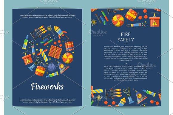 Vector Cartoon Pyrotechnics Card