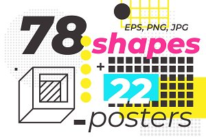 78 geometric shapes, 22 posters