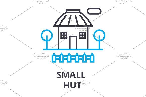 Small Hut Thin Line Icon Sign Symbol Illustation Linear Concept Vector