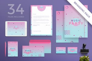 Branding Pack | Pink Music Party