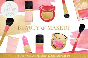 Makeup & Beauty Clipart Set