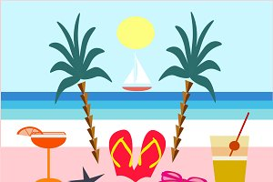 Cool summer holiday background