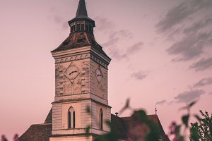 Church Tower at Dusk