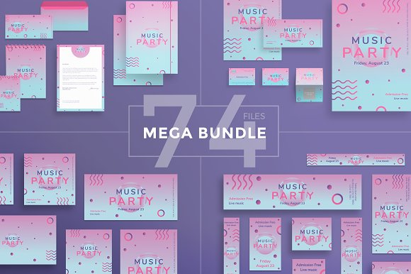 Mega Bundle Pink Music Party