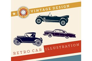 Vector. Retro car design