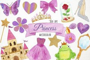 Watercolor Princess Clipart