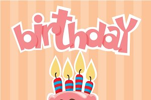 Colorful Birthday Desserts Template