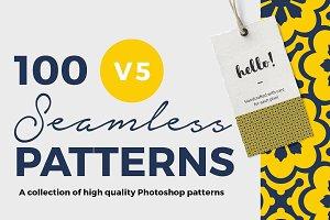 100 Seamless Photoshop Patterns - V5