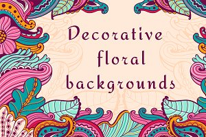 Abstract floral backgrounds