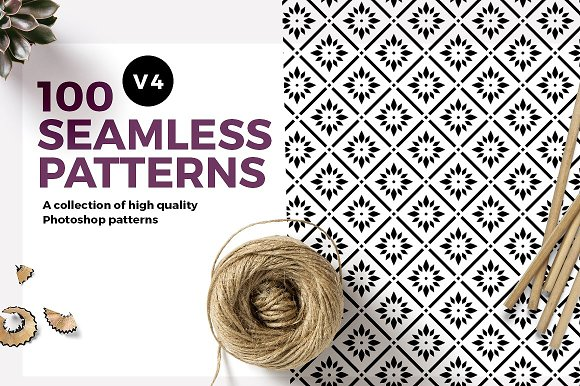 100 Seamless Photoshop Patterns V4