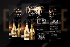Exclusive Saturdays Flyer Template