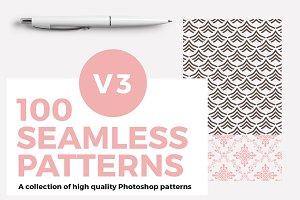 100 Seamless Photoshop Patterns - V3