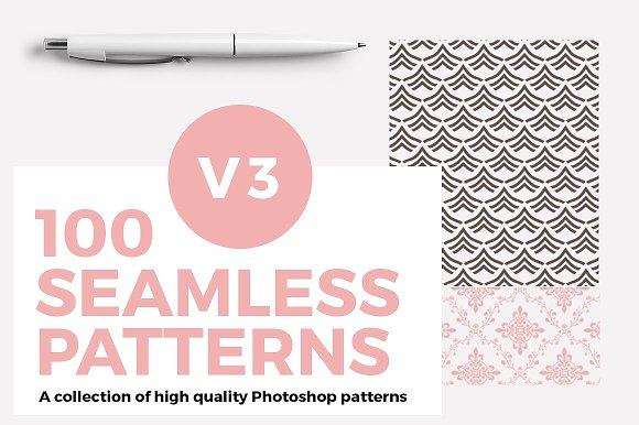 100 Seamless Photoshop Patterns V3