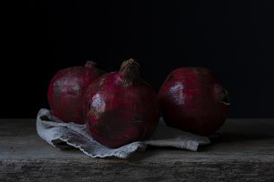 Dark and Moody Pomegranates