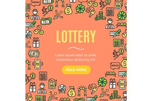 Lotto Signs Round Design Template