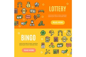 Lotto Banner Set. Vector