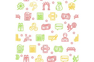 Lotto Pattern Background