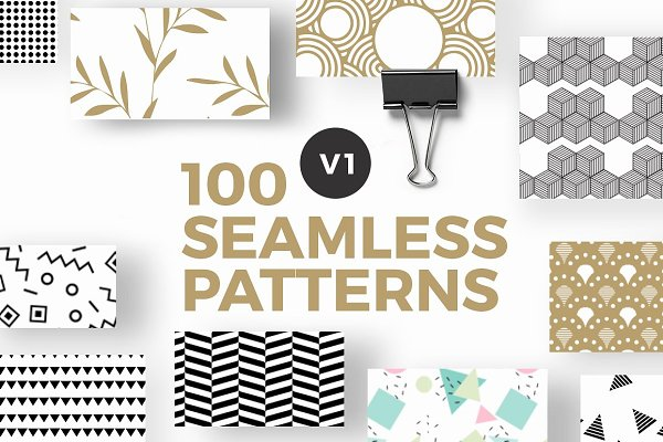 Patterns: Invents - 100 Seamless Photoshop Patterns - V1
