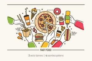 Fastfood - banner, background