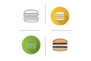 Burger cutaway icon