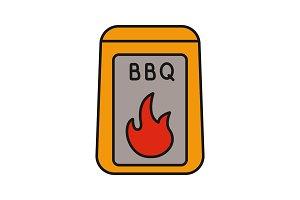 Barbeque coal color icon