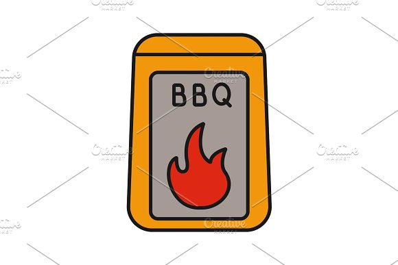 Barbeque Coal Color Icon