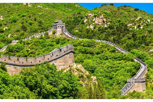 Architecture Stock Photos: Leonid Andronov - View of the Great Wall at Badaling - China