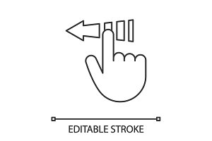 Slide touch gesture linear icon