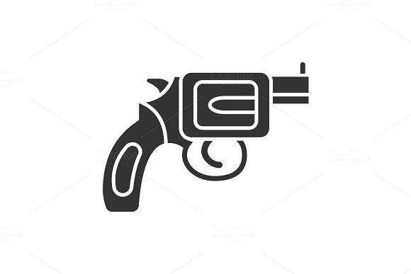 Revolver Glyph Icon