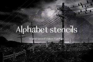 Alphabet - Stencils