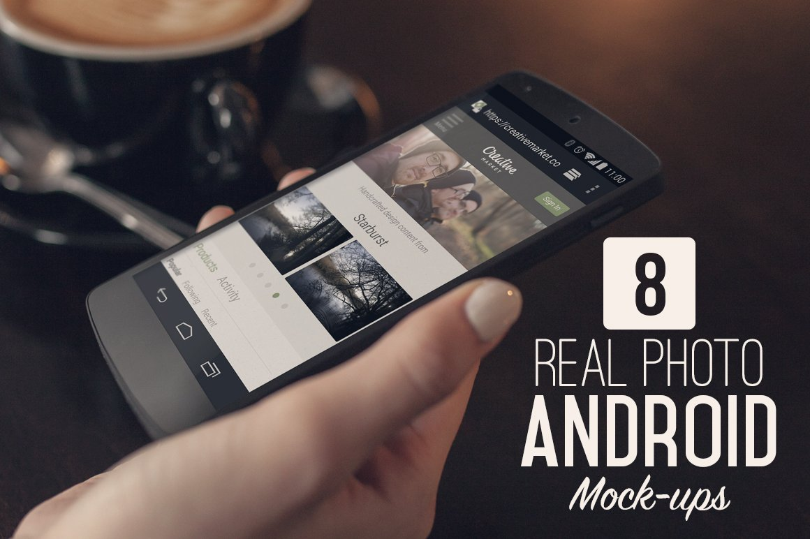 8 real photo android mock ups product mockups creative market - Mockups For Android