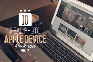 10 Real Photo Apple Mock-Ups Vol.2