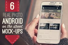 6 Real Photo Android Street Mockups