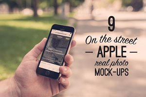 9 Real Photo Apple Street Mock-ups