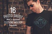 16 Men's Apparel Mockups VOL.1