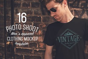 16 Men's Apparel Mockups VOL.1